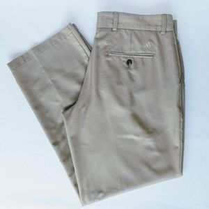 Men's Adidas ClimaLite Khaki Golf Pants 36/32